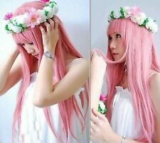 Megurine Luka Cosplay Wigs Pink Full Party Hair Lolita Japan Anime