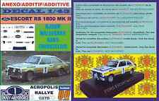 ANEXO DECAL 1/43 FORD ESCORT RS 1800 MK II ROTHMANS WALDEGARD ACROPOLIS 79 (01)
