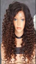 "18"" Virgin Brazilian Human Hair Ombre Lace Front Wig, 180% Density"