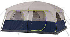 10 Person Man 2 Room Family Tent Camping Hiking Cabin RainFly Skylight 8 6 4 2