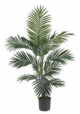 Nearly Natural 5295 Kentia Palm Silk Tree 4ft Green Artificial Plants, New