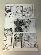 TRANSFORMERS annual ORIGINAL ART pg #7 CYCLONUS, ORE, SWERVE, 2012, DREAMWAVE