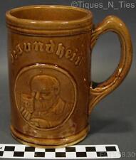 Antique Stoneware Compliments Gesundheit Beer Free Premium Tankard Mug Stein GG