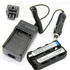 Battery +Charger for Sony NP-F550 NP-F750 NP-F960 F970
