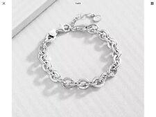 "Silpada""Link"" B3414 Sterling Silver Chic Italian Made Bracelet"