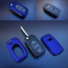 Für Audi Klapp Schlüssel Cover Key Cover Schlüssel Funk Fernbedienung Met Blau