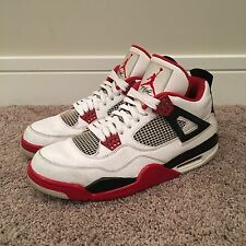 Jordan Retro 4, White/Varsity Red, Men's Size 12, 2012 Release