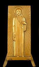 Médaille religieuse Le coeur du Christ 95 mm Vézien Jésus c 1940 religious medal