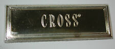 NOS Antique Vintage CROSS Gold color Sign for Showcase w/ Adhesive 5 pieces