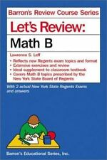 Let's Review Math B (Let's Review Series) Leff, Lawrence S. Paperback