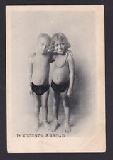 Life in India 1900s Vintage Real Scence Postcard - Innocents Abroad