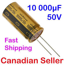 1pcs 10000uF 50V 25x50mm Nichicon FW series Audio For Amplifier Radio Hi-Fi TV