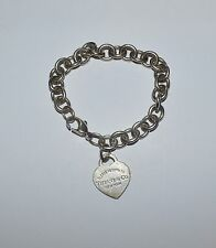 TIFFANY AND CO STERLING SILVER ''PLEASE RETURN TO'' HEART TAG BRACELET