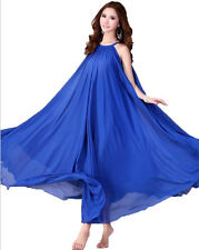 01 Women Lady Blue Long Maxi Formal Beach Evening Party dress Plus Size 30W-32W