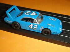 TYCO #43 RICHARD PETTY DAYTONA HO SLOT ON HP7 WIDE PAN CHASSIS (NOS)