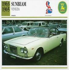 1963-1965 SUNBEAM VENEZIA Sports Classic Car Photo/Info Maxi Card