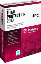 McAfee Total Protection 1 PC 2013 - NEW - FREE SHIPPING