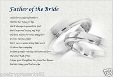 FATHER OF THE BRIDE-  From Groom  (Personalised Poem Gift)