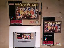 The Lost Vikings for SNES. Boxed with Manual. Pal