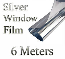 6m x 50cm SILVER CAR VAN HOME WINDOW FILM TINTING SHADE KIT MIRROR EFFECT 2T