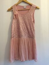 Used Girls Age 12 Pink Sequin Sleeveless Party Dress From Next