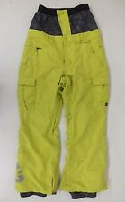 DC High-Quality Neon Yellow Cargo-Style Snowboard Pants Size Small Fast Shipping
