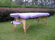 "BestMassage Purple 77""L 3"" Pad Portable Massage Table"