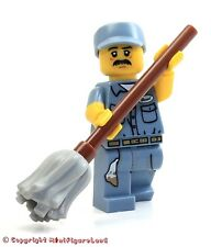 LEGO Collectible MiniFigure: Series 15: #09 - Janitor (Sealed Pack)