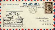 CANADA 1ers vols first flights airmail 90