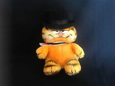 "VINTAGE DAKIN 1981 TOPHAT BRIDEGROOM GARFIELD CAT 9"" TALL"