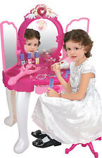 Princess Dressing Table Play Set Playset Lipstick Nail Polish Hair Dryer Wand