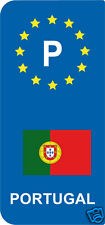lot 2 Stickers style immatriculation (Vinyl FLAG) Europe P PORTUGAL