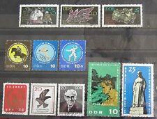 DDR sellos 1965 montaña Academia Friburgo, cinco lucha, a. schweitzer, aves de presa,...