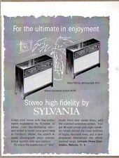 1959 Print Ad Sylvania Stereo High Fidelity Hi-Fi Consoles Batavia,NY