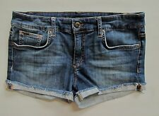 Joe's Jeans Best Friend Raw Cuff Short 27 Rhianna Medium Blue Denim Shortie 2""