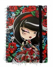 Goth : Grand Carnet de Notes à Spirales Kimmidoll Love NOIR & ROUGE gothique