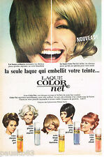 PUBLICITE ADVERTISING 055  1966  COLOR-NET   laque