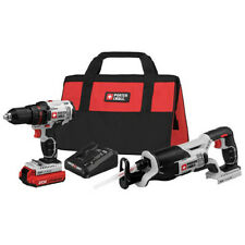 Porter-Cable 20V MAX Li-Ion Drill Driver and Recip Saw Combo Kit PCCK603L2