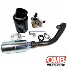 Stage 2 Air Filter Exhaust Pipe For Hemi Predator 212cc MiniBike Kit Drift Trike