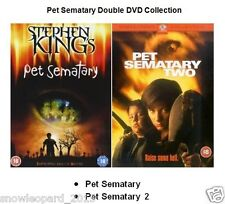 PET SEMATARY 1 AND PET CEMATARY 2 DVD Double Stephen King New Sealed UK Release