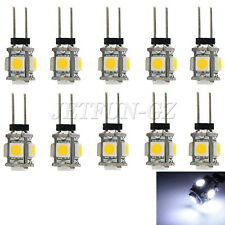 10 X White G4 5 SMD LED 5050 RV Marine Boat Camper Car Light Bulb Lamp DC 12V