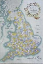 UK FOXHUNTING  MAP   (FOX - HOUNDS) ENGLAND HUNTING