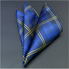 Men's Wedding Party Silk Satin Solid Floral Hanky Pocket Square Handkerchief F11