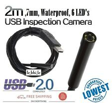 E25 2m USB 6LED Security Waterproof Borescope Endoscope Inspection Snake Camera