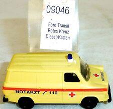 Rot Kreuz Notarzt Ford Transit Diesel IMU EUROMODELL 09046 H0 1:87 OVP  #HO1 å