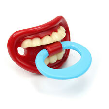 Red Lips Baby Funny Dummy Pacifier Novelty Teeth Children Soother Feeding Tool