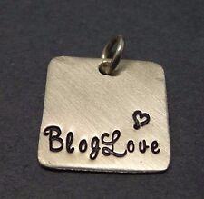 Vintage Sterling Silver Square Internet Blogger Blog Love Pendant