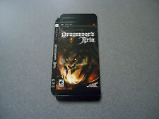 Dragoneer's Aria Empty Display Box     PSP   No Game   NEW