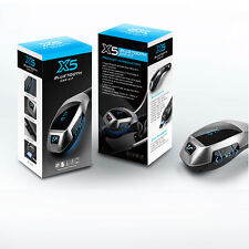 Bluetooth Car Kit MP3 X5 Wireless FM Transmitter USB SD LCD Charger Handsfree UK
