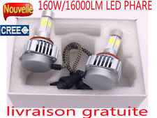 H7 H4 160W 16000LM LED Phare Light Blanc 6000K Ampoule Voiture Feux Auto Lampe